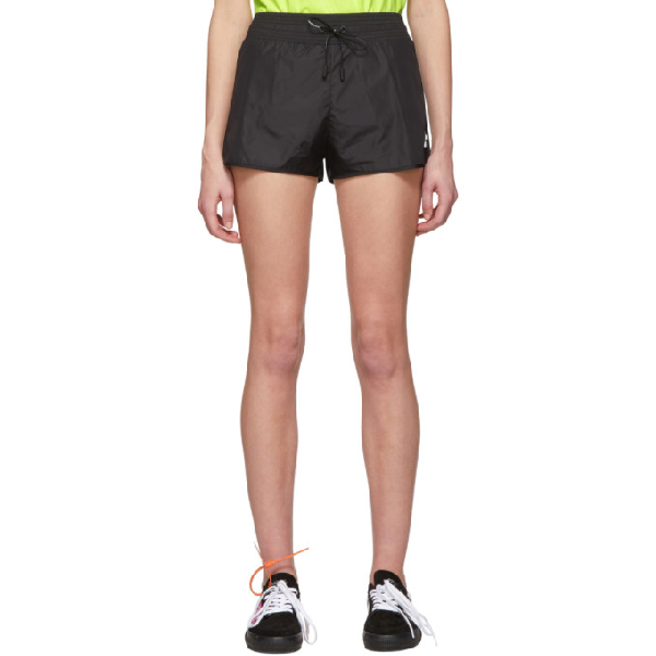 Off-white Technical Fabric Contrast Shorts In Black