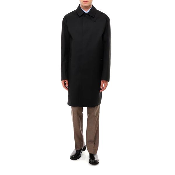 Mackintosh Concealed Closure Coat In Black