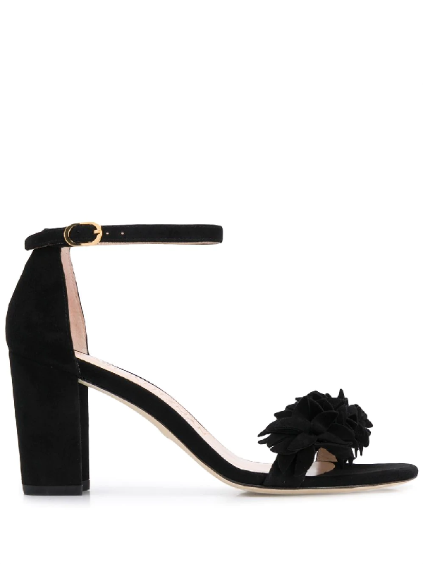 Stuart Weitzman Nearly Nude Embellished Sandals In Black