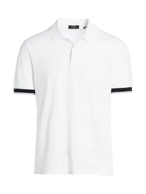 Theory Men's Luxe Polo In White