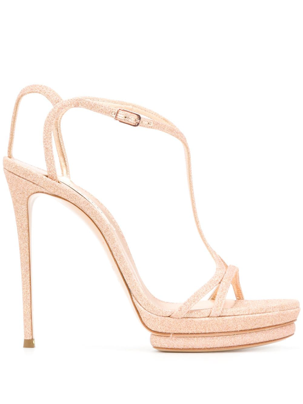 Casadei City Light Sandals In Gold