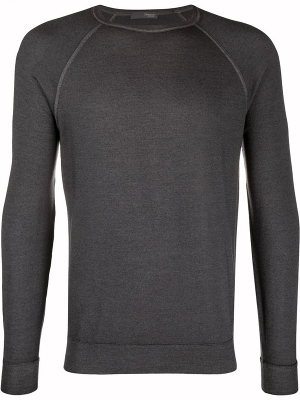 Drumohr Cotton Sweatshirt In Grey