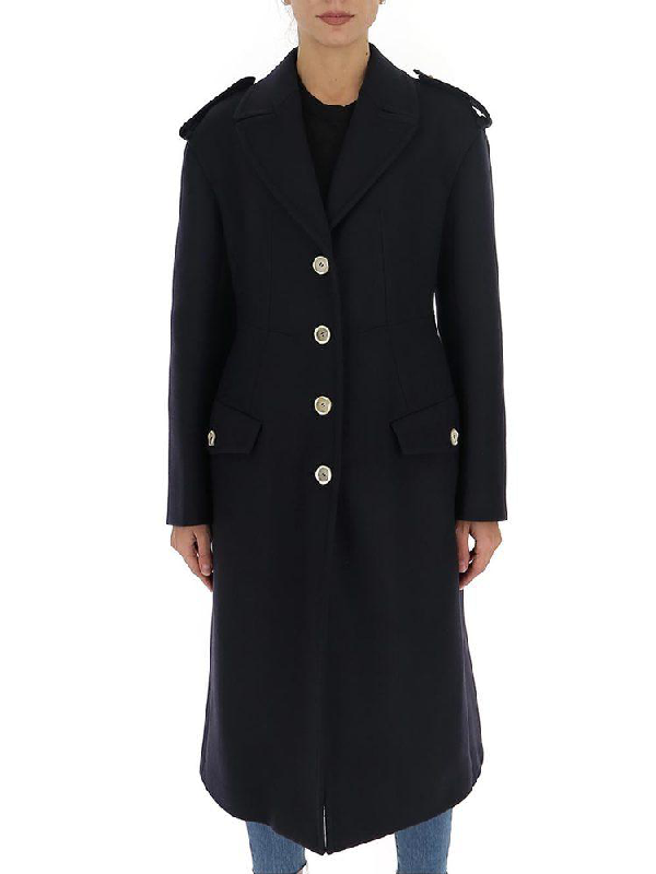 Marni Tailored Single Breasted Coat In Blue