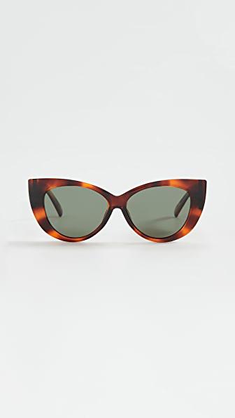 Le Specs Feline Fine Sunglasses In Toffee Tort Khaki Polarized