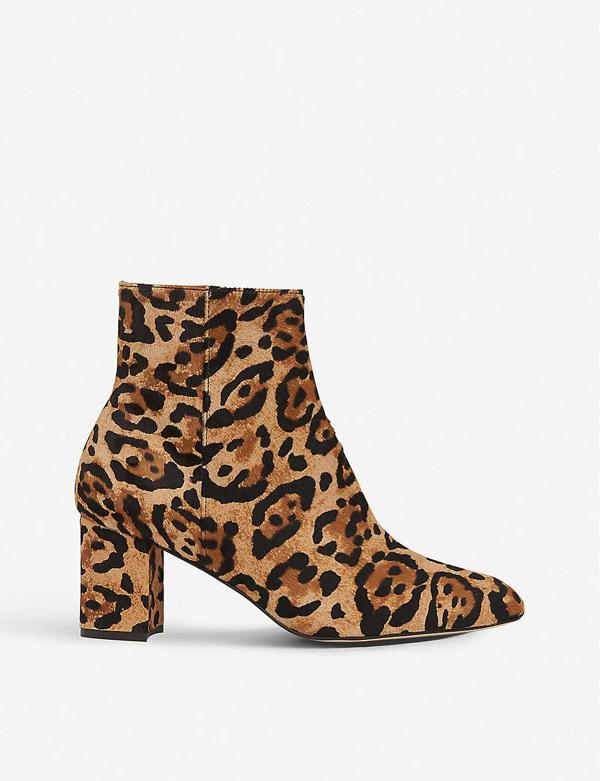 Lk Bennett Jette Leopard-print Calf Hair Boots In Nat-natural Leopard