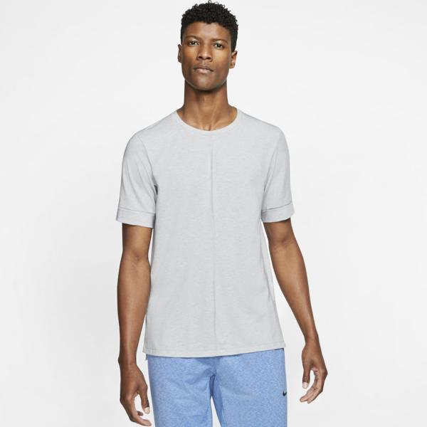 Nike Dri-fit Short-sleeve Top - Light Smoke Grey In Grey,heather,black