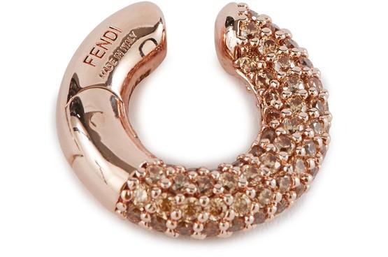 Fendi Single Earring In Oro Rosa+champagne