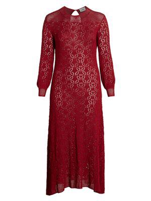 Baacal, Plus Size Women's Loren Crochet Maxi Dress In Scarlet Letterred
