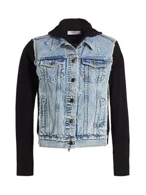 Bailey44 Women's Le Mot Juste Denim & Knit Combo Jacket In Black