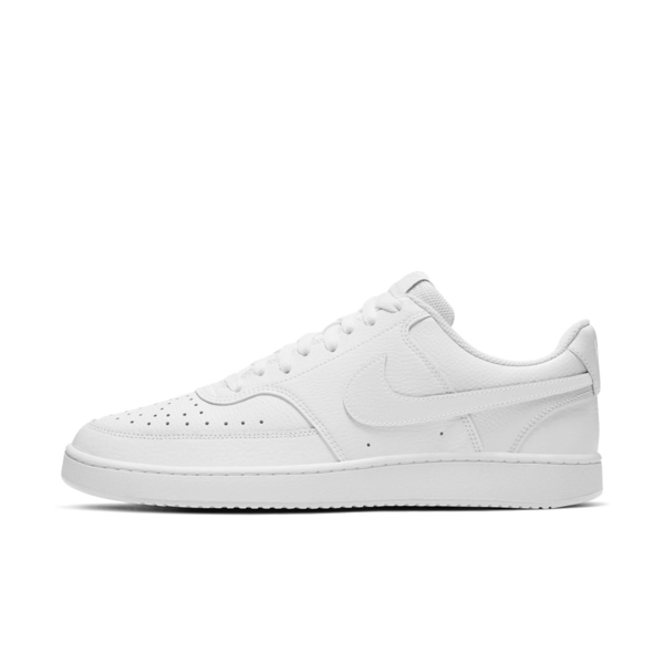 Nike Court Vision Low Casual Sneakers From Finish Line In White,white,white