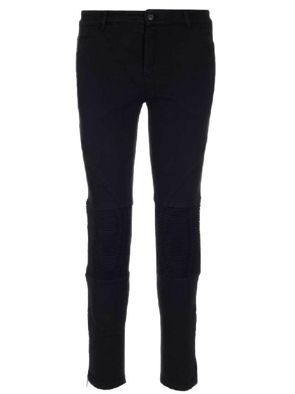 N°21 Skinny Biker Jeans In Black