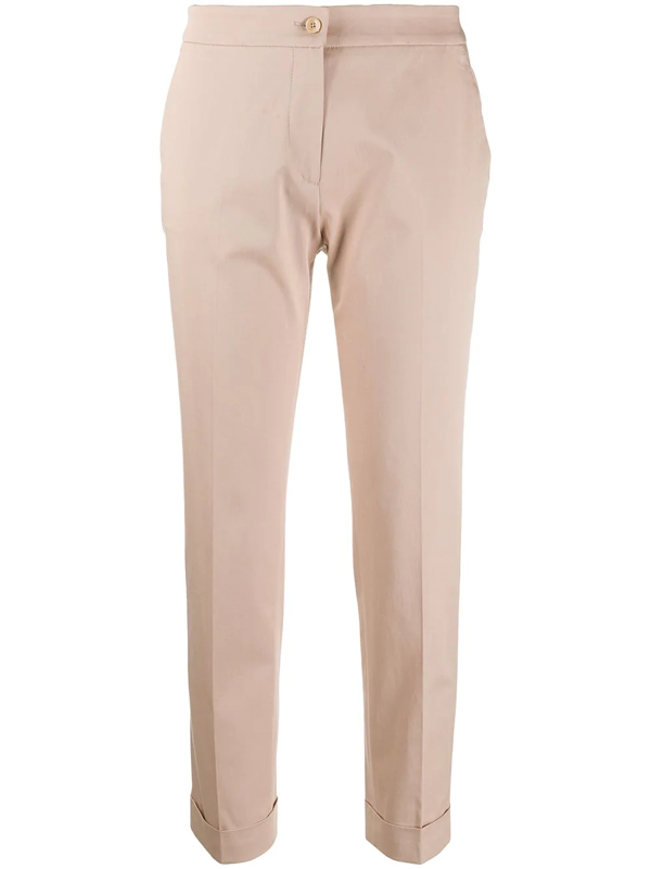 Etro Cropped Cigarette Trousers In Pink