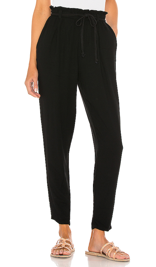Bobi Beach Crepe Pant In Black