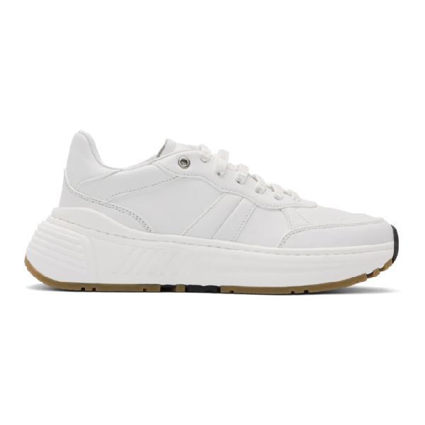 Bottega Veneta Speedster White Leather Sneakers <br> Ss 2020 In 9117 White