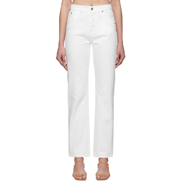 Jacquemus Classic Five Pockets Straight Jeans In White