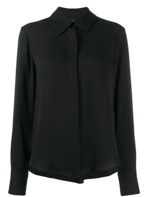Tom Ford Fluid Stretch Cotton Viscose Shirt In Black
