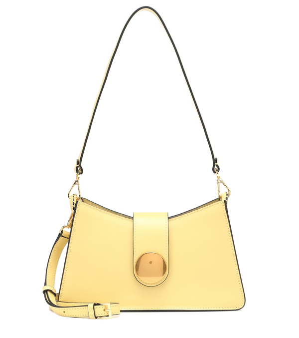 Elleme Baguette Yellow Leather Cross-body Bag