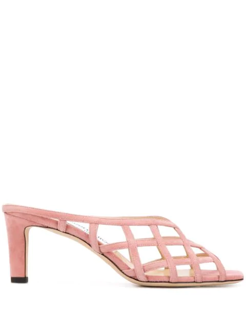 Jimmy Choo Sai 65mm Open-toe Mules In Pink