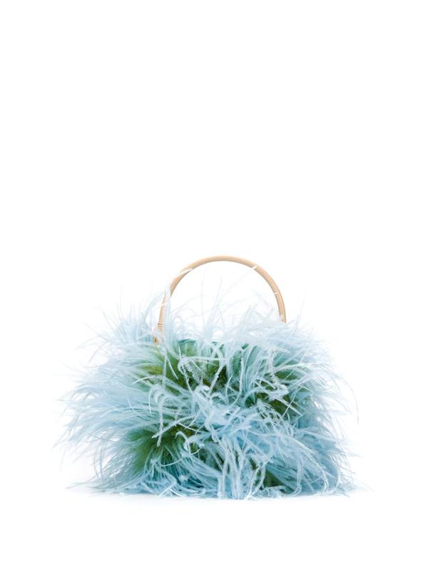 Gatti Tweety Feather Bucket Bag In Blue