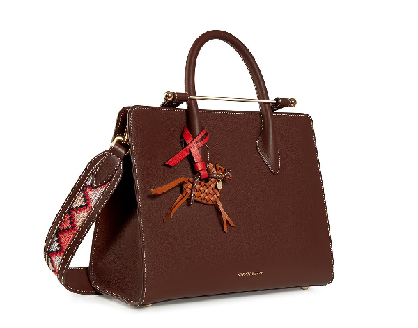 Ss20 The Strathberry Midi Tote In Riding School Chocolate