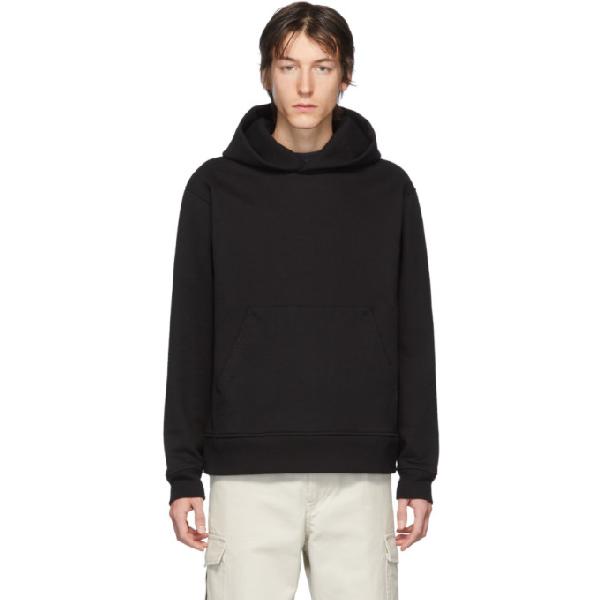 Acne Studios Forres Logo-label Cotton-blend Hooded Sweatshirt In Black