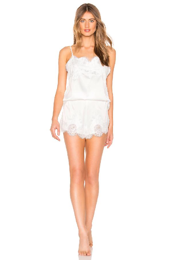 Homebodii Camisole & Shorts Pajama Set In White