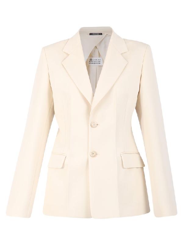 Maison Margiela Single-breasted Jacket In White