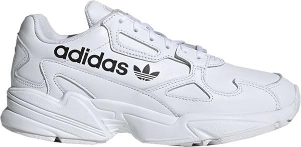Pre-owned Adidas Originals  Falcon Big Logo White (w) In Cloud White/cloud White/core Black