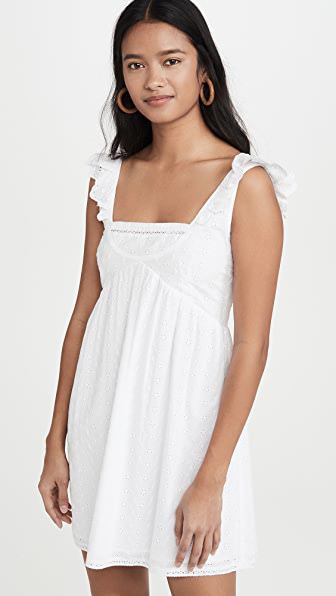 Playa Lucila Eyelet Dress In White