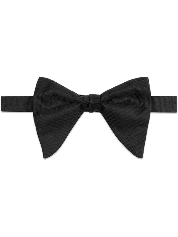 Gucci Men's Black Silk Bow Tie
