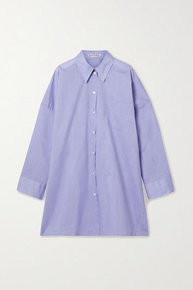 Acne Studios Oversized Cotton-poplin Shirt Powder Blue In Azure