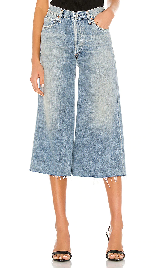 Citizens Of Humanity Emily Wide-leg High-rise Organic-cotton Jeans In Insider