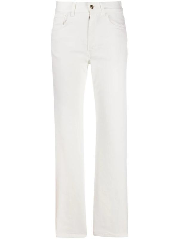 Alanui High-rise Straight-leg Jeans In White