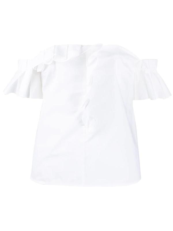 Pinko Amido Cotton Poplin Top In White