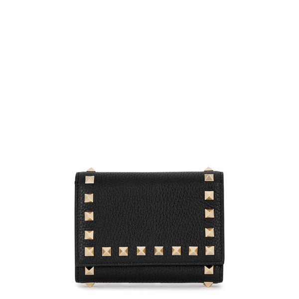 Valentino Garavani Garavani Rockstud Black Leather Wallet