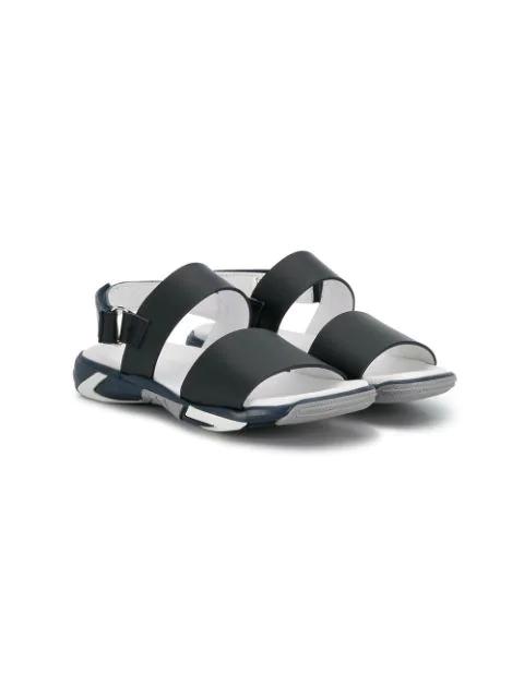 Emporio Armani Kids' Strappy Open Toe Sandals In Blue