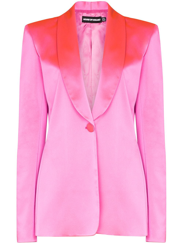 House Of Holland Oversized Satin-crepe Blazer In Pink