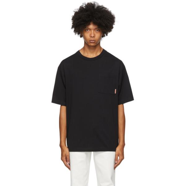 Acne Studios Extorr Logo-label Cotton-jersey T-shirt In Black