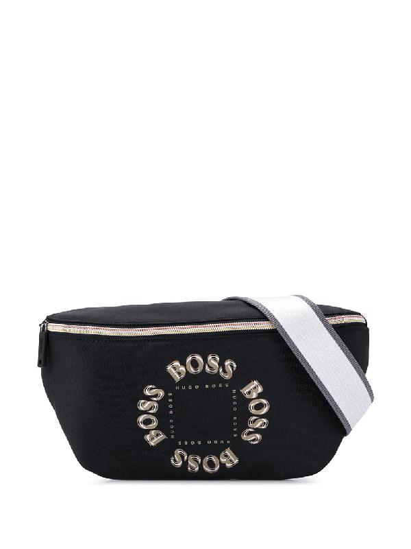 Hugo Boss Logo Print Belt Bag In Black
