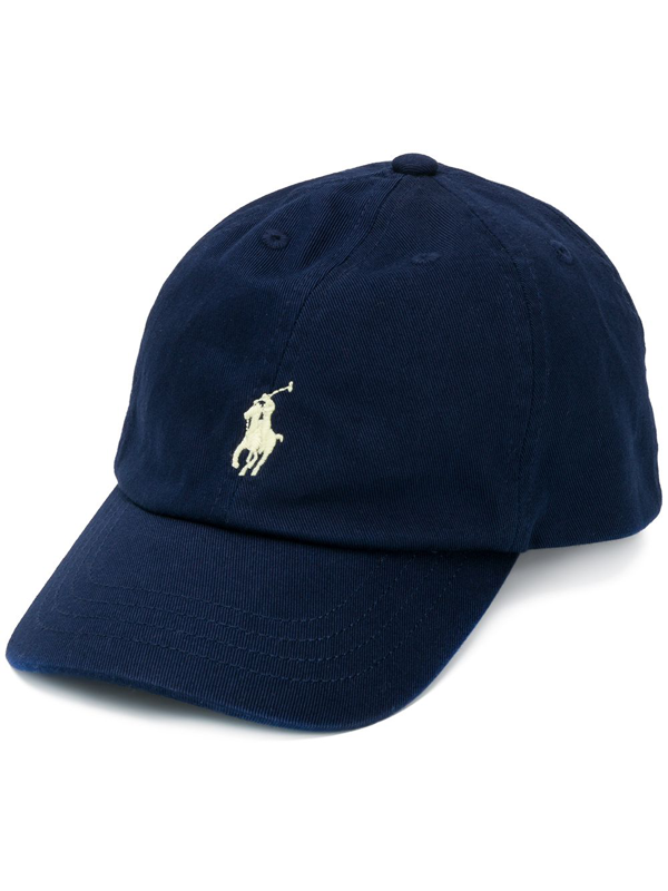 Ralph Lauren Kids' Embroidered Logo Baseball Cap In Blue