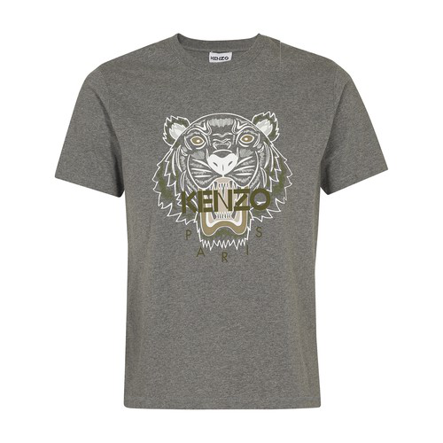 Kenzo Tiger T-shirt In Dove Grey