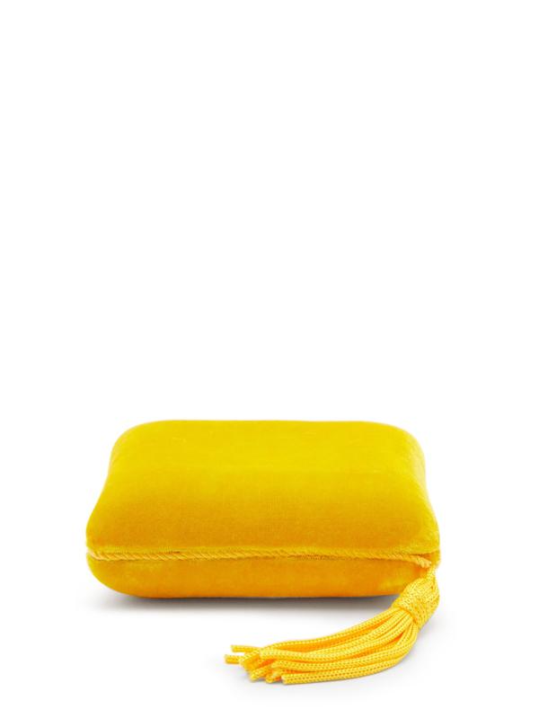 Sophie Bille Brahe Tasseled Velvet Jewelry Box In Yellow