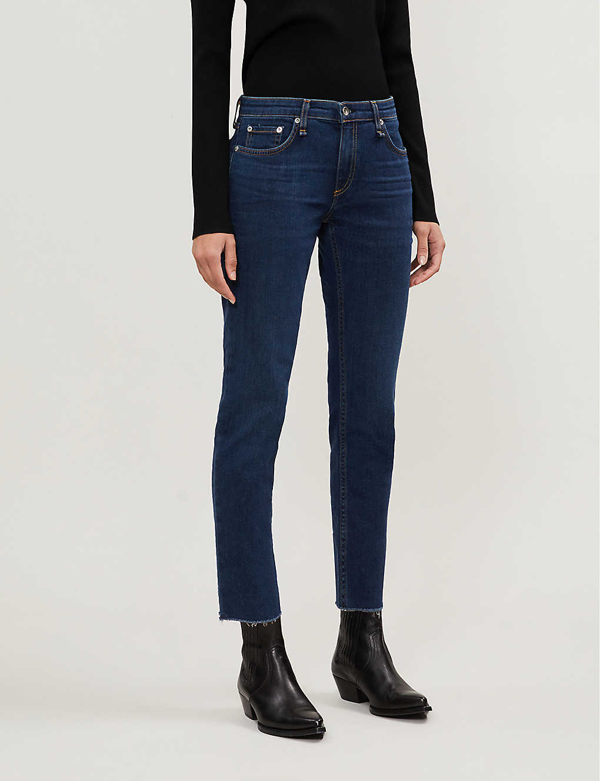 Rag & Bone Women's Dre Low-rise Slim Boyfriend Jeans In New Worn