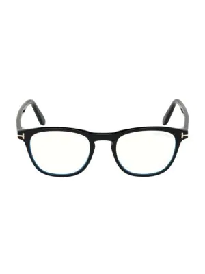 Tom Ford Women's 48mm Blue Block Square Eyeglasses In Black