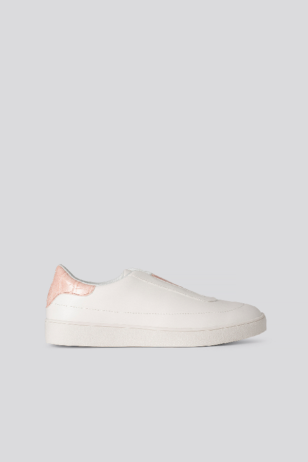 Na-kd Slip In Trainers White In Offwhite/pink