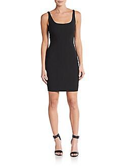 Elizabeth And James Huette Fitted Sleeveless Mini Sheath Dress, Black In 0400087608107