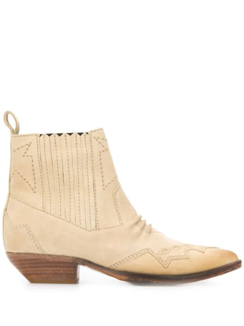 Roseanna 40mm Cut Out Detail Ankle Boots In Neutrals