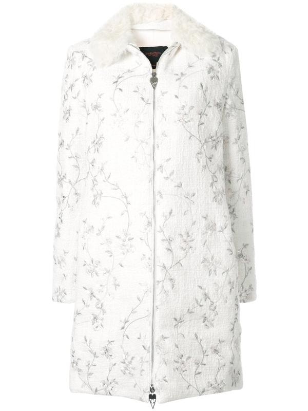 Giambattista Valli Embroidered Floral Jacet In White