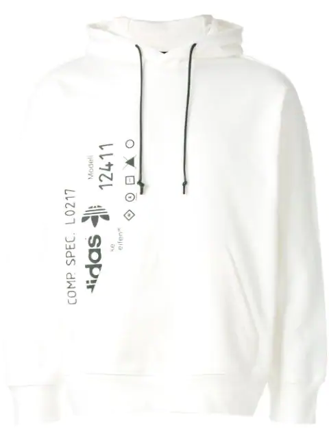 Adidas Originals By Alexander Wang Opening Ceremony Graphic Hoodie In White