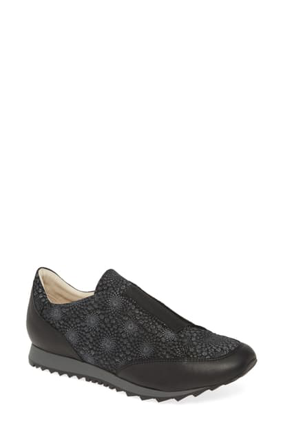 Amalfi By Rangoni Folco Loafer In Black Print Leather